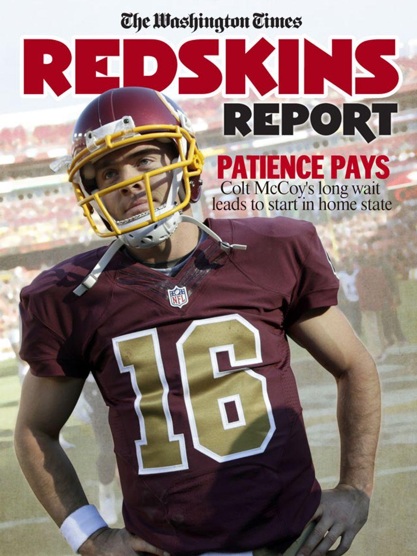 Redskins Report cover Colt McCoy