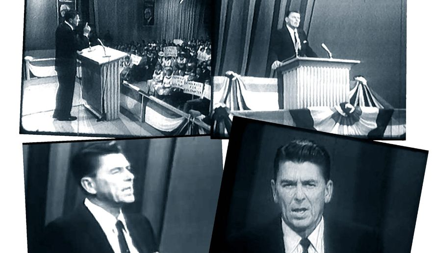 "Ronald Reagan giving his ""A time for choosing"" speech in 1964             The Washington Times"