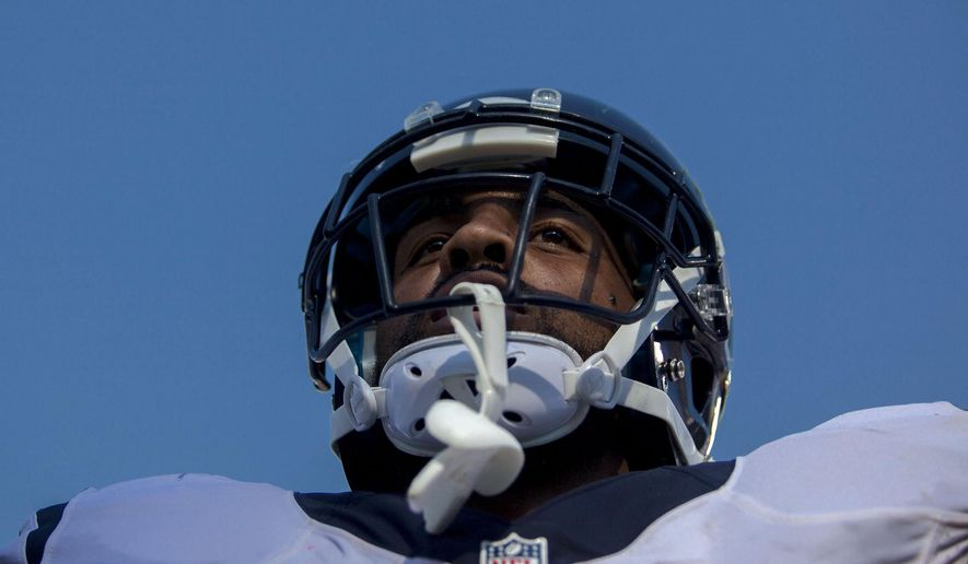 Houston Texans running back Arian Foster (23) looks up at the crowd after scoring a touchdown during an NFL football game against the Tennessee Titans, Sunday, Oct. 26, 2014, in Nashville, Tenn. (AP Photo/The Daily News, Austin Anthony)
