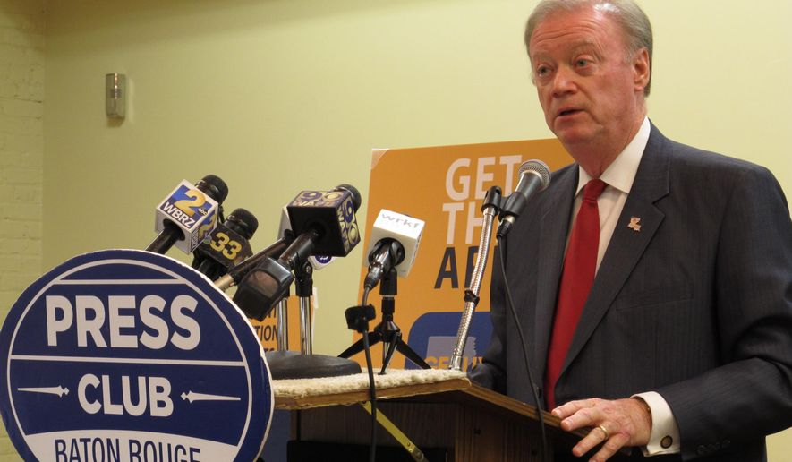 Secretary of State Tom Schedler said he expects about 45 percent to 50 percent of Louisiana's voters to cast ballots for the Nov. 4 election, in an appearance before the Press Club of Baton Rouge on Monday, Oct. 27, 2014, in Baton Rouge, La. (AP Photo/Melinda Deslatte)