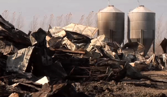 Workers at the Cougar Run Farm, in Truman, Minnesota, are devastated after a massive barn fire killed as many as 10,000 sows and piglets. (CBS Minnesota)