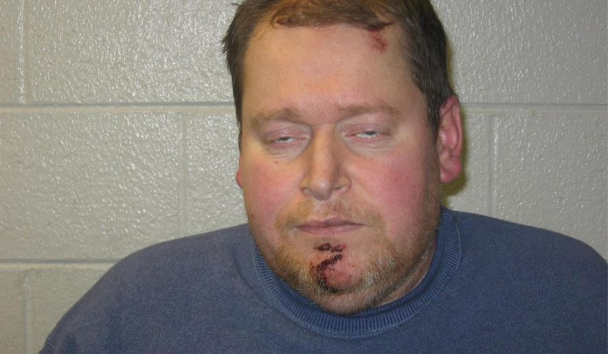 This  photo provided by Newark, Del., Police Department shows Timothy Krieger.  Newark police have arrested Krieger on charges of assault and drunken driving in a wrong-way crash that seriously injured another man. Police say Krieger was drunk on Oct. 22, 2014 when he drove the wrong way on South Main Street in Newark, colliding with another car. Both Krieger and the 66-year-old driver of the car had to be extricated by paramedics and taken to the hospital.  The 66-year-old man had to undergo surgery for lower-body injuries. He remains in in serious but stable condition.  (AP Photo/Newark Police Department)