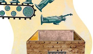 Liberties Lost Illustration by Greg Groesch/The Washington Times