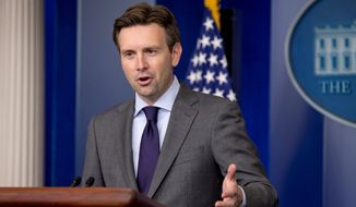 "White House press secretary Josh Earnest was among those who joined in the diplomatic uproar over an anonymous ""chicken[***] remark about Israeli Prime Minister Benjamin Netanyahu. (Associated Press)"