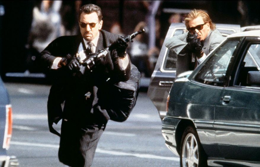 Director Michael Mann's botched robbery scene in 'Heat.'