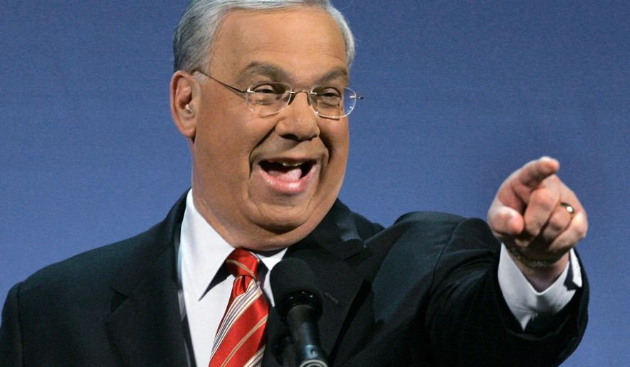 FILE - In this Jan. 9, 2007, file photo, Boston Mayor Thomas Menino points during his State of the City address in Boston. Menino, who was diagnosed with cancer a month after leaving office in 2013, died Thursday, Oct. 30, 2014, in Boston. He was 71. (AP Photo/Elise Amendola, File)