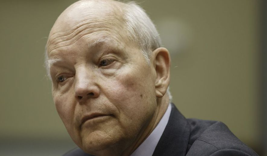 The Washington Times first disclosed the criminal charges against Carl Sheerer in August, which came months after IRS Commissioner John Koskinen issued a memo to agency employees describing the data breach. (AP Photo/J. Scott Applewhite)