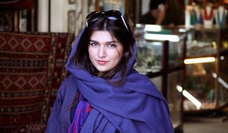"Iranian-British Ghoncheh Ghavami was detained while trying to attend a men's volleyball game and has been sentenced to one year in prison, her lawyer said Sunday after being found guilty of ""propagating against the ruling system."" (AP Photo/Free Ghoncheh Campaign)"