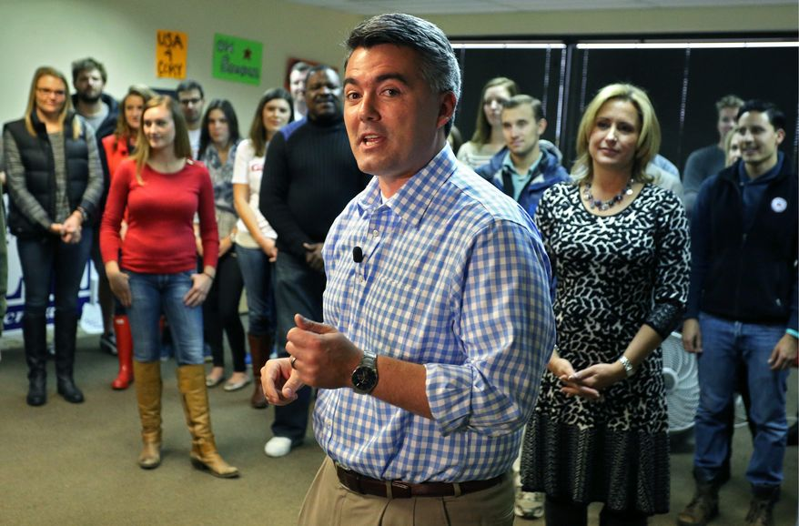 rocky road: Colorado Republican Senate candidate U.S. Rep. Cory Gardner has gained on Sen. Mark Udall for his seat.