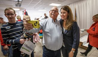 Alison Lundergan Grimes visited with supporters at the United Auto Workers hall in Bowling Green, Kentucky, on the eve of a fateful midterm election. With tight elections in key Senate races across the country, both Democrats and Republicans are searching for a final edge in their get-out-the-vote operations. (Associated Press)