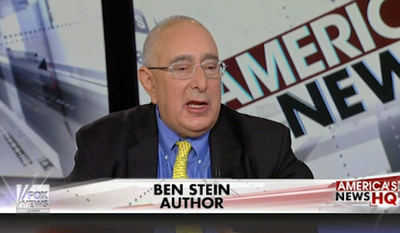 "Ben Stein argued Monday that the ""real problem"" with race in America is the ""pathetic, self-defeating black underclass"" that's plagued by drugs and gangs. (Mediaite) ** FILE **"