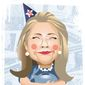 Illustration on Hillary Clinton's economic ignorance by Linas Garsys/The Washington Times