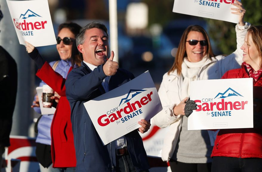 Republican candidate Cory Gardner ousts incumbent Democratic Sen. Mark Udall to win the U.S. Senate seat in Colorado.