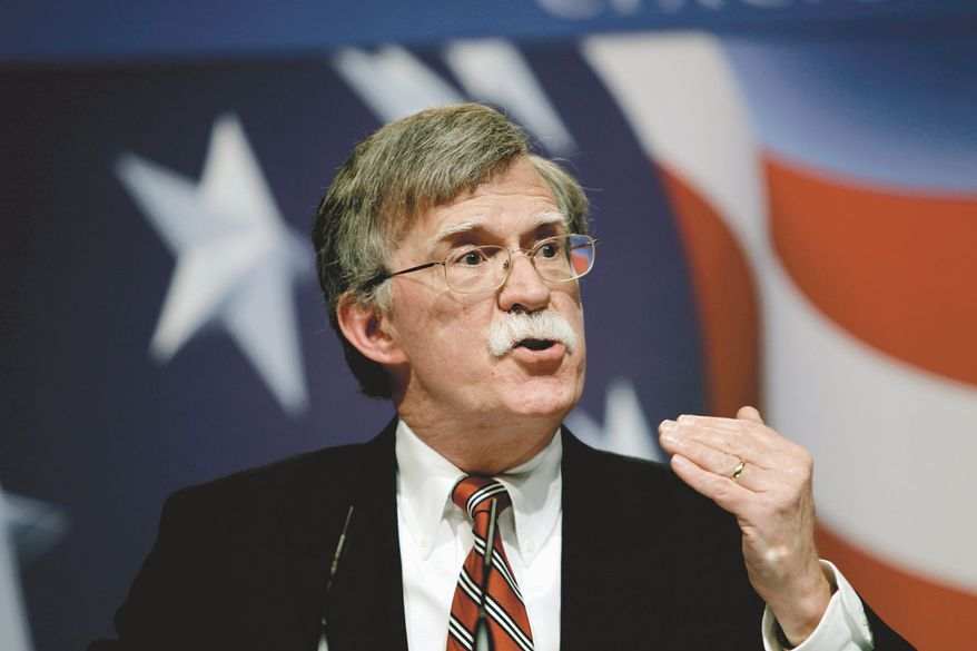 """Former U.N. Ambassador John Bolton said """"We must hold the Obama administration accountable and set the table for dramatic change in the next presidency"""" as the 2014 election cycle wound down. (Associated Press)"""