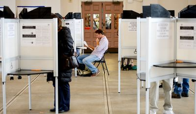 Jason Wright votes at a polling station at Eastern Market on election day, Washington, D.C., Tuesday, November 4, 2014. (Andrew Harnik/The Washington Times)