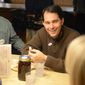 Wisconsin Gov. Scott Walker makes a campaign stop at Kroll's West in Ashwaubenon, Wis., on Election Day, Tuesday, Nov. 4, 2014. (AP Photo/The Green Bay Press-Gazette, H. Marc Larson) NO SALES