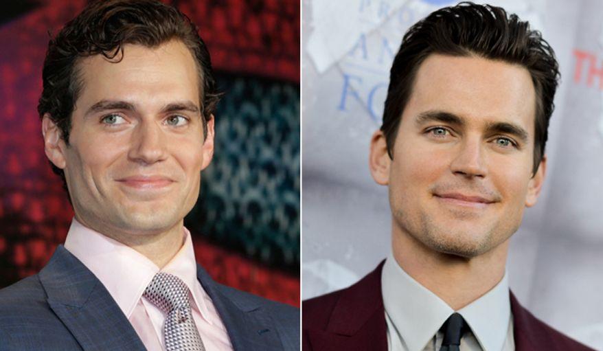 'Superman' Henry Cavill, left, and Matt Bomer.