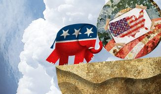Illustration on Republican's mandate from voters to stop Obama's agenda by Alexander Hunter/The Washington Times
