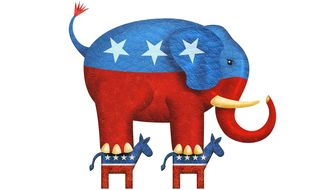 GOP On Top Illustration by Greg Groesch/The Washington Times