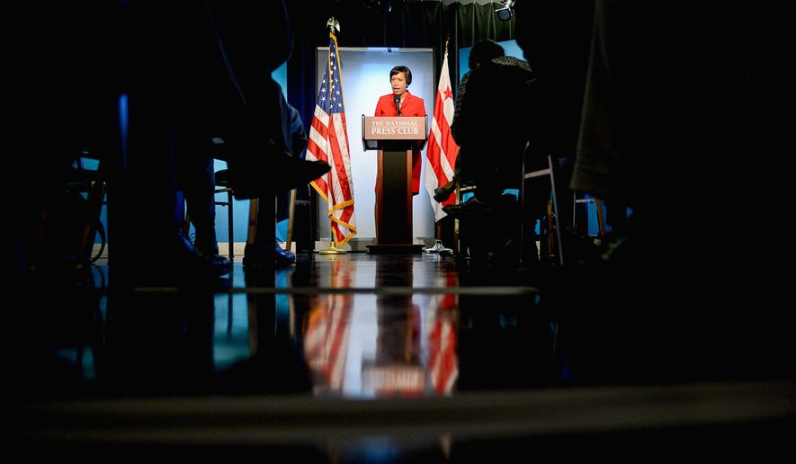 """D.C. Mayor-elect Muriel Bowser said she was """"humbled and grateful"""" for win over David A. Catania and Carol Schwartz and """"appreciative of the clear mandate."""" (Andrew Harnik/The Washington Times)"""