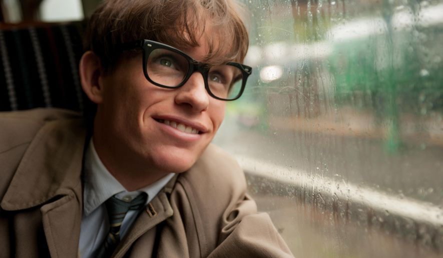 """This image released by Focus Features shows Eddie Redmayne as Stephen Hawking in a scene from """"The Theory of Everything."""" (AP Photo/Focus Features, Liam Daniel)"""