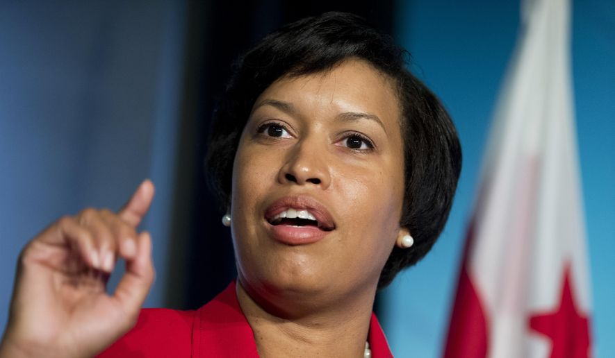 Mayor-Elect Muriel Bowser, speaks to reporters during a news conference at the National Press Club in Washington, Wednesday, Nov. 5, 2014, a day after being elected the next mayor of the District of Columbia.    (AP Photo/Manuel Balce Ceneta)
