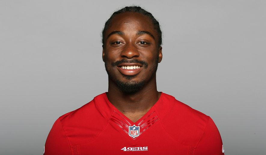"FILE - This is a 2014 file photo showing Marcus Lattimore of the San Francisco 49ers NFL football team. Lattimore is weighing his football future, less than a week after returning to the practice field following a two-year ordeal with a devastating college knee injury.  Coach Jim Harbaugh says Lattimore is going to talk to his family and the team should know more in the coming days, noting, ""he's weighing his options.""  (AP Photo/File)"