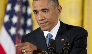 President Barack Obama gestures during a news conference in the East Room of the White House, on Wednesday, Nov. 5, 2014, in Washington. Obama held an afternoon news conference Wednesday to share his take on the midterm election results after his party lost control of the Senate, and lost more turf in the GOP-controlled House while putting a series of Democratic-leaning states under control of new Republican governors. (AP Photo/Pablo Martinez Monsivais)