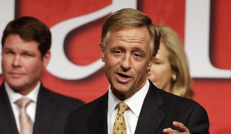 Tennessee Gov. Bill Haslam speaks to supporters in Nashville, Tenn., after being re-elected Tuesday, Nov. 4, 2014. (AP Photo/Mark Humphrey)