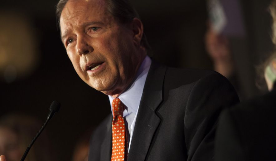 Sen. Tom Udall, D-N.M., speaks to supporters at the Double Tree hotel after being re-elected as one of New Mexico's Senators, Tuesday, Nov. 4, 2014 in Albuquerque, N.M. (AP Photo/Craig Fritz) ** FILE **