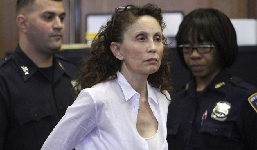 FILE - In this Aug. 11, 2011 file photo, Gigi Jordan, the multimillionaire mother charged with killing her autistic 8-year-old son, appears in Manhattan Supreme court in New York. Jordan was convicted by a jury of manslaughter Wednesday, Nov. 5, 2014 and faces up to 25 years in prison when sentenced. (AP Photo/File, Mary Altaffer)