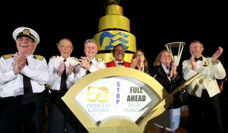 "The original cast of ""The Love Boat"" christens Princess Cruises' newest ship, Regal Princess. (PRNewsFoto/Princess Cruises)"