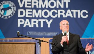 Vermont incumbent U.S. Rep. Peter Welch, D-Vt., celebrates his re-election on Tuesday, Nov. 4, 2014 in Burlington, Vt. (AP Photo/Andy Duback) ** FILE **