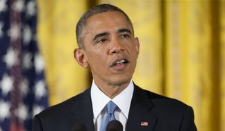 President Barack Obama speaks during a news conference in the East Room of the White House, on Wednesday, Nov. 5, 2014, in Washington. Obama is holding an afternoon news conference Wednesday to share his take on the midterm election results after his party lost control of the Senate, and lost more turf in the GOP-controlled House while putting a series of Democratic-leaning states under control of new Republican governors. (AP Photo/Pablo Martinez Monsivais)