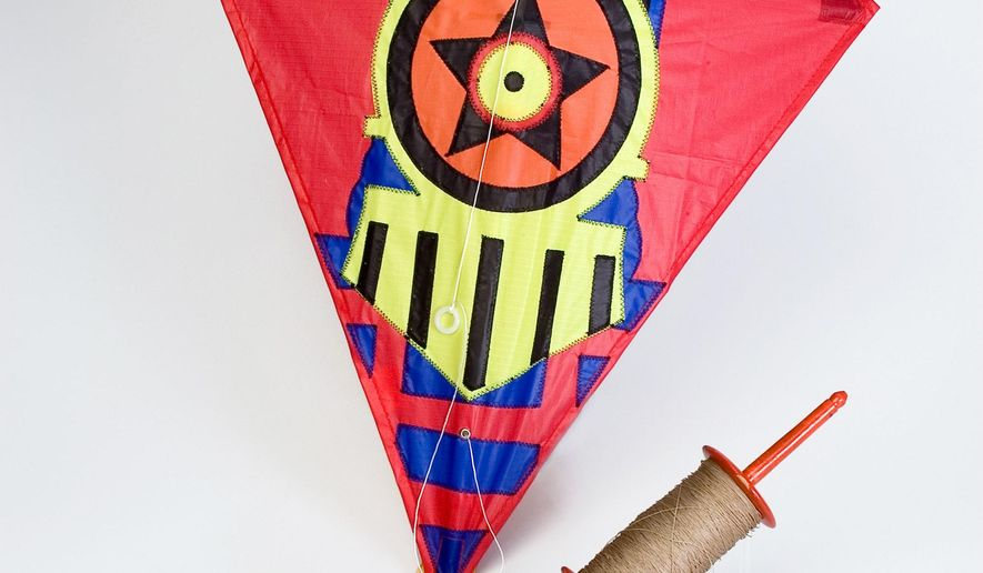 In this photo provided by Strong National Museum of Play is a kite inducted into the Toy Hall of Fame in Rochester, N.Y., Thursday Nov. 8, 2007. Spanning ancient and modern eras, the Atari 2600 video game system, the kite and Raggedy Andy were chosen for entry into the Strong National Museum of Play's all-star lineup, joining the bicycle, Lionel model trains, Mr. Potato Head and 33 other classic playthings. (AP Photo/Strong National Museum of Play)