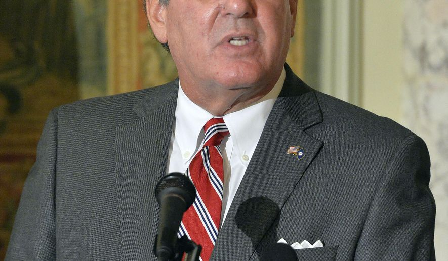 Kentucky Lt. Gov. Jerry Abramson answers questions during a press conference at the Capitol Building Thursday, Nov. 6, 2014, in Frankfort, Ky., announcing his resignation to accept a position as Deputy Assistant to President Barack Obama.  (AP Photo/Timothy D. Easley)