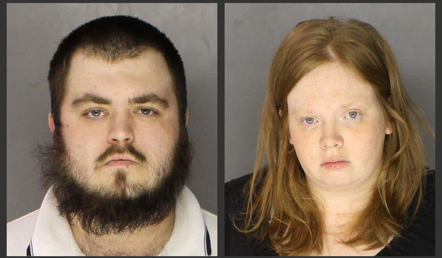 This photo combo of undated images provided by the Chester County District Attorney's Office, in Pennsylvania, shows Gary Lee Fellenbaum, left, and Jillian Tait, who were charged Thursday, Nov. 6, 2014, with murder in the death of Tait's 3-year-old son, Scott McMillan. (AP Photo/Chester County District Attorney's Office)