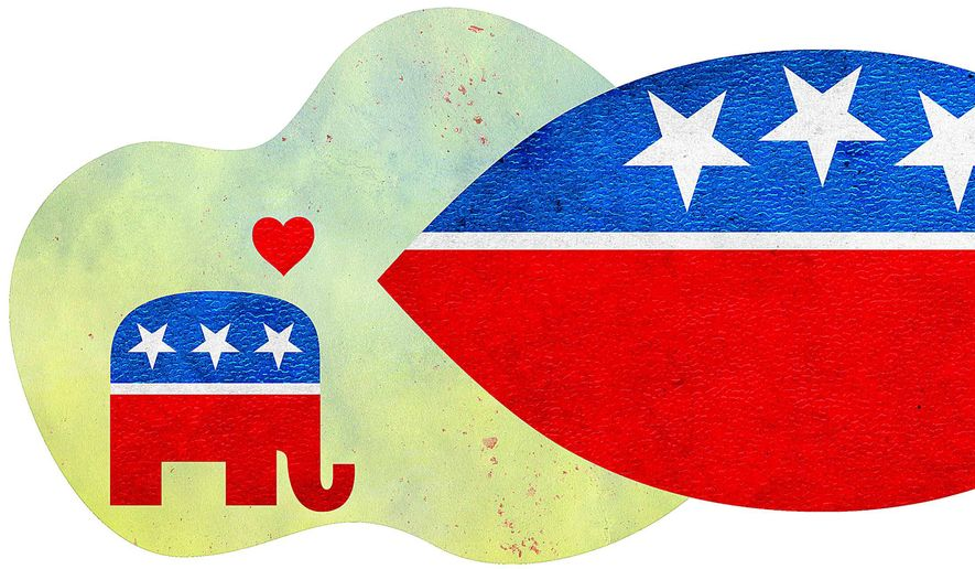 Political Fish Illustration by Greg Groesch/The Washington Times