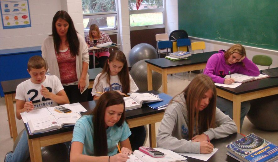An American classroom in early fall. (AP Photo/The Alpena News, Paige Trisko)