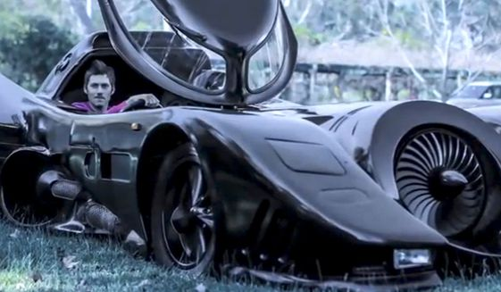 Zac Mihajlovic from Australia made his own street-legal Batmobile. He uses it to entertain children through the Make-A-Wish Foundation. (Image: YouTube, Barcroft Cars)