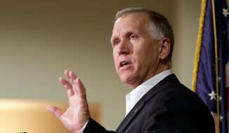 "Sen. Thom Tillis of North Carolina has put a ""hold"" on Lee Francis Cissna, the nominee for director of U.S. Citizenship and Immigration Services, to try to pressure Homeland Security Secretary John F. Kelly to bend to the senator's will and quickly approve thousands of H-2B visas. (Associated Press/File)"