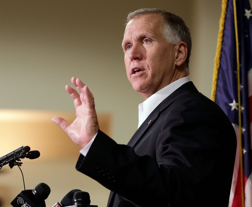 """Sen. Thom Tillis of North Carolina has put a """"hold"""" on Lee Francis Cissna, the nominee for director of U.S. Citizenship and Immigration Services, to try to pressure Homeland Security Secretary John F. Kelly to bend to the senator's will and quickly approve thousands of H-2B visas. (Associated Press/File)"""
