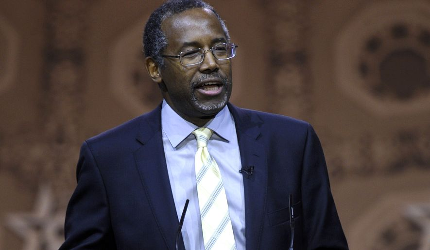 Ben Carson said race relations were better before President Obama was elected. (AP Photo/Susan Walsh, File)