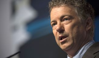 Sen. Rand Paul, Kentucky Republican. (Associated Press) ** FILE **