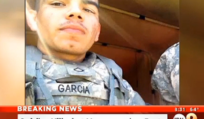 Francisco Garcia, a 22-year-old Army veteran, was shot to death in Los Angeles early Sunday during a dispute at a homecoming party celebrating his return from Afghanistan. (KCAL 9)