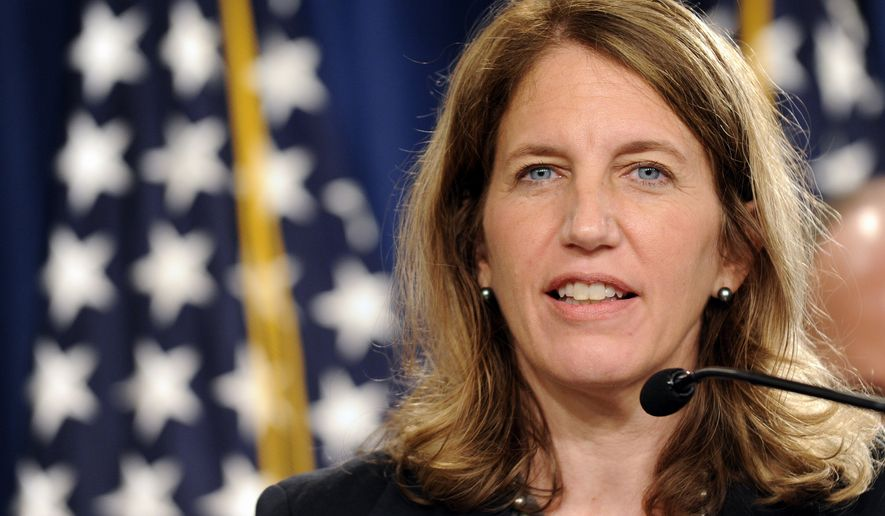 Health and Human Services Secretary Sylvia Burwell speaks in Washington in this July 28, 2014, file photo. (AP Photo/Susan Walsh, File)