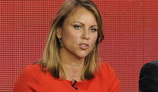 "FILE - In this Jan. 12, 2013 file photo, ""60 Minutes"" reporter Lara Logan takes part in a panel discussion at the Showtime Winter TCA Tour in Pasadena, Calif. Logan is being quarantined in a South Africa hotel for three weeks as a precaution after visiting an American-run hospital treating Ebola patients in Liberia for a ""60 Minutes"" report that aired Sunday, Nov. 9, 2014. (Photo by Chris Pizzello/Invision/AP, File)"