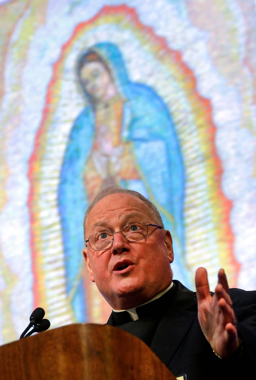 Cardinal Timothy Dolan, archbishop of New York, ribbed the media on its coverage of the synod on family members last month at the Vatican, during Monday's Catholic bishops conference. (Associated Press)