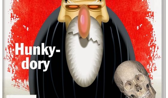 Illustration on The Economist's recent apologetic issue for Iran by Alexander Hunter/The Washington Times