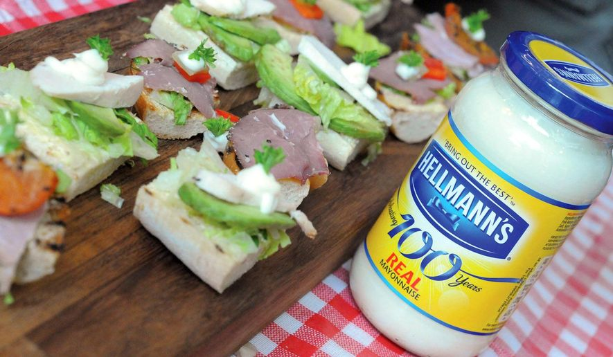 "This undated product image provided by Unilever shows Hellmann's real mayonnaise. Hellmann's owner Unilever on Oct. 31, 2014 filed a lawsuit against a California company that uses the word ""Mayo"" in its sandwich spread name, saying that federal regulators and dictionaries define mayonnaise as a spread that contains eggs. (AP Photo/Unilever)"